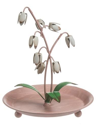 Warm Design Metal Çiçek Mücevher Tutacağı Renkli